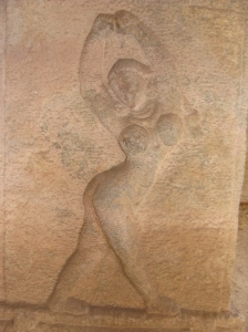 Nayika depicted on the walls of Hampi